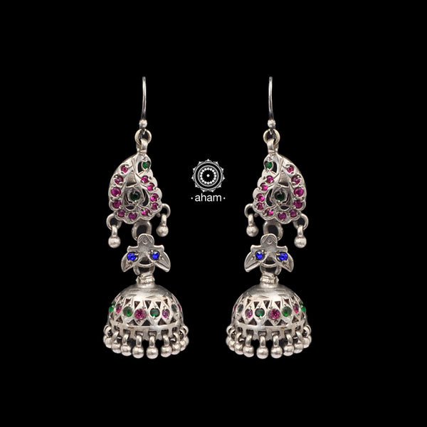 Vintage Silver Earrings with beads  Sourced from Rajasthan