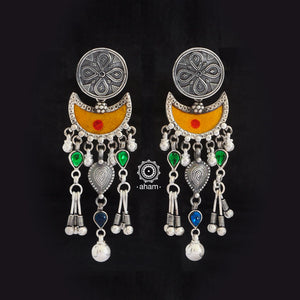Silver Rang Mahal Earrings.