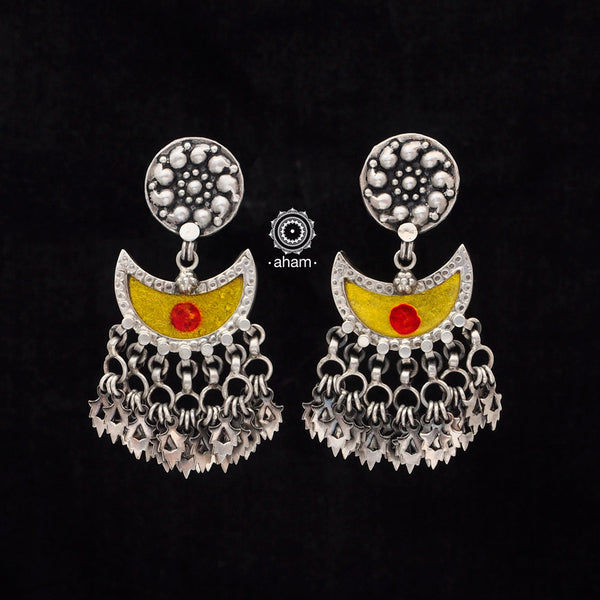 Yellow Silver Rang Mahal Earring
