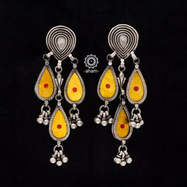 Rang Mahal Yellow Silver Earring
