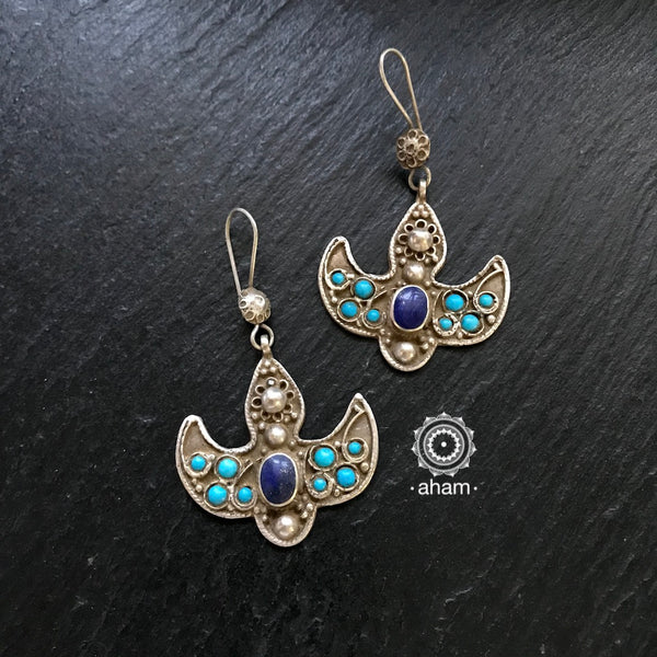 Central Asian Tribal Silver Earrings