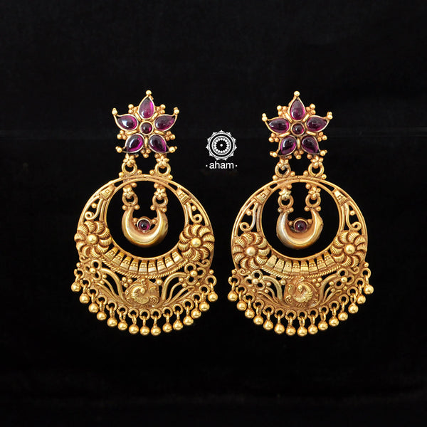 Gold Polish Silver Chandbali