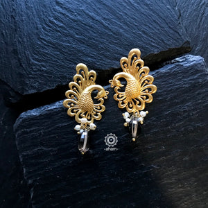 Silver Gold polish earring in 92.5 Sterling silver.