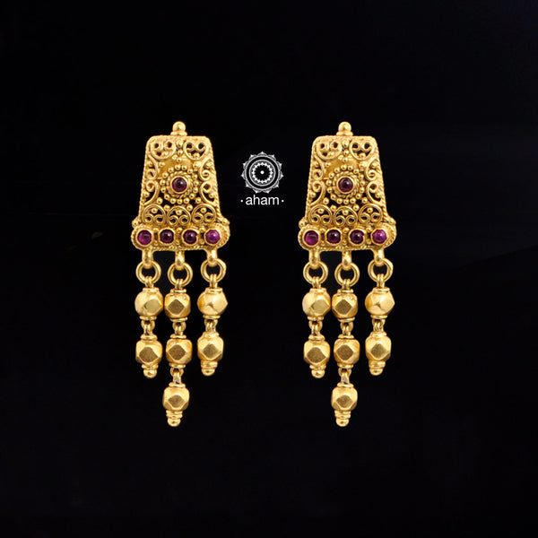 Kemp Drop Silver Gold Polish Earring