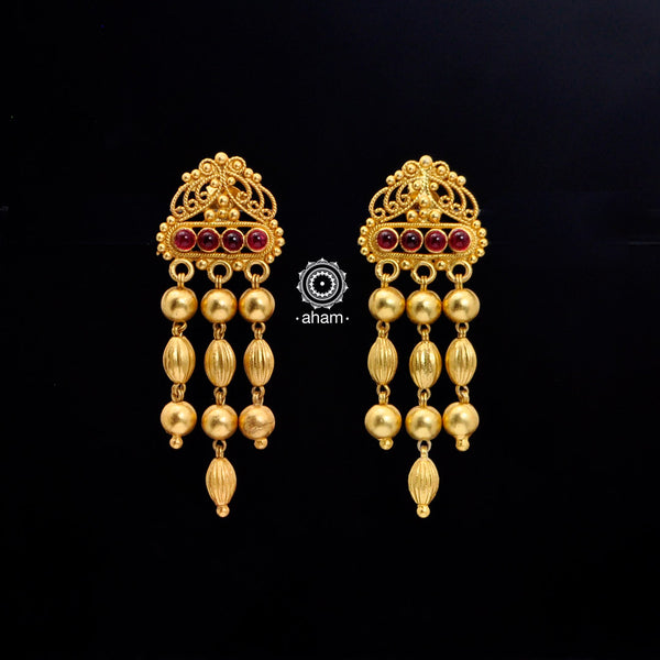 Kemp Dangler Silver Gold Polish Earring