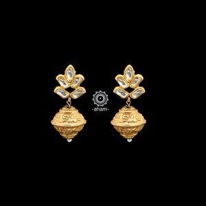 Mini Silver Gold Polish Kundan Drops