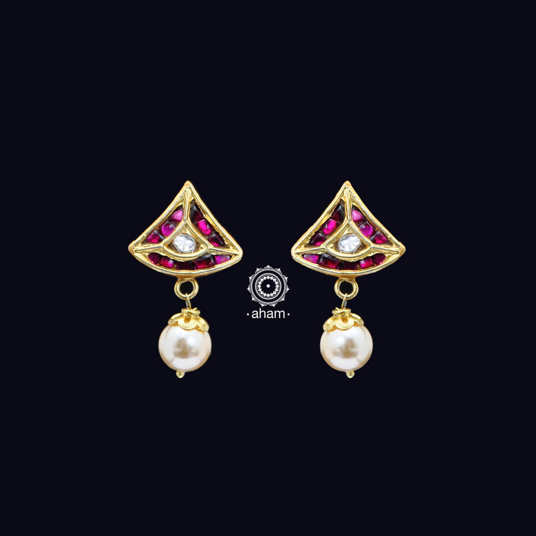 Mini Kundan Gold Polish Earrings