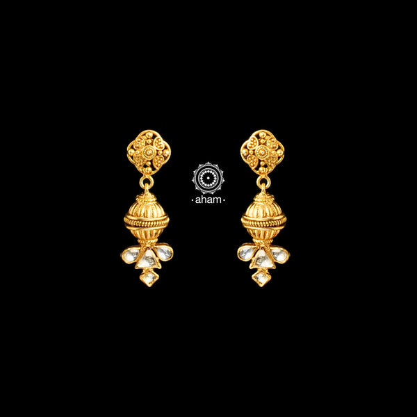 Feel like a modern day princess with these gold-dipped sterling silver(92.5%) earrings handcrafted using traditional methods
