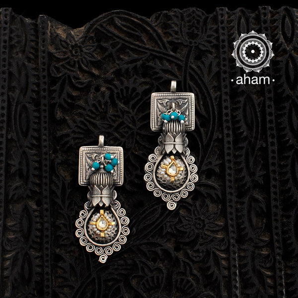 Dual Tone Noori one of a kind earring