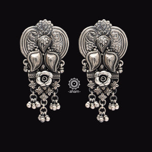 One of a kind statement wearable art pieces. Earrings in Sterling 92.5 silver.