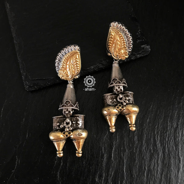 Two Tone Nagali Tribal Earrings
