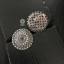 Handcrafted 92. Silver Stud Earring.