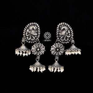 Handcrafted 92.5 Sterling Silver Jhumkies.