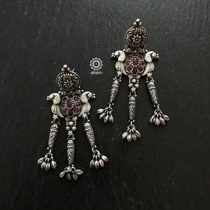 Handcrafted 92.5 Sterling Silver Earrings.