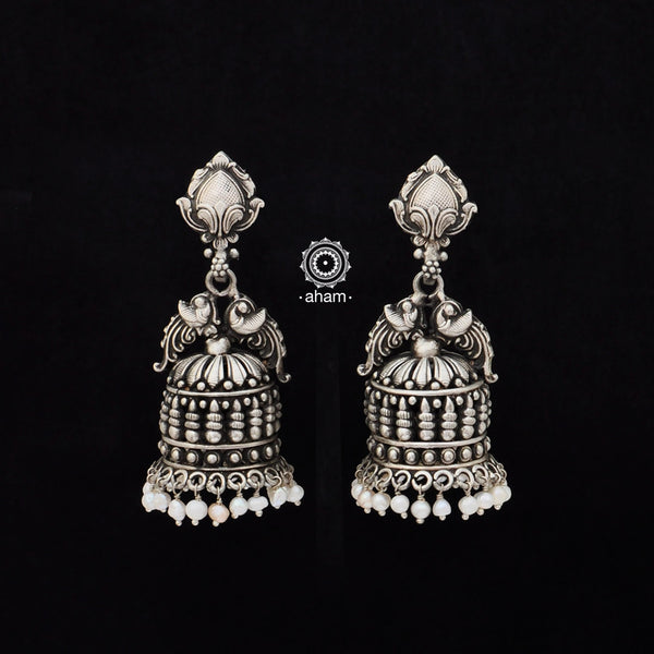 Handcrafted 92.5 Sterling Silver Jhumkies