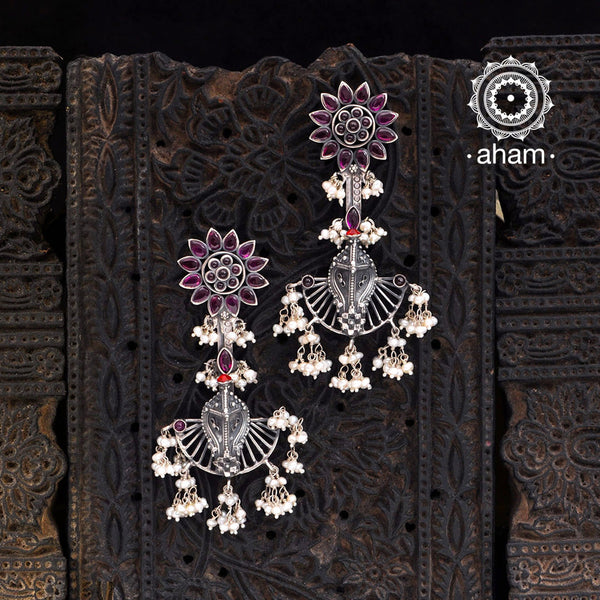 Malhar Silver Naag Earrings