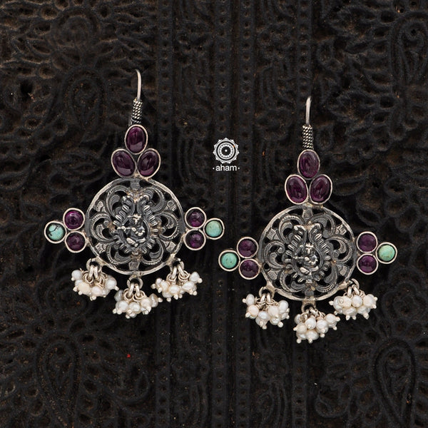 Malhar Silver Krishna Earrings