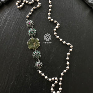 One Sided Silver Neckpiece
