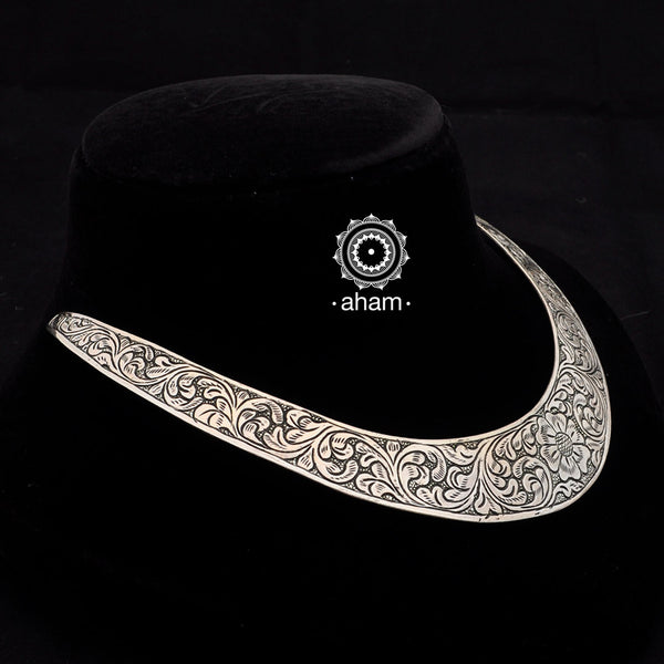 92.5 Sterling Silver Collar Hasli. team it up with a formal Shirt or Sari.  Looks equally striking with both.