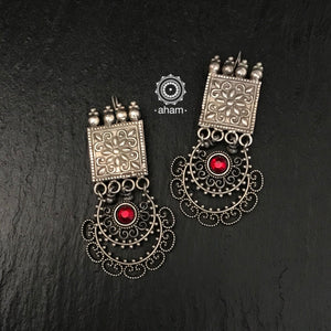 Mewad Silver earrings.  We have only one piece each in this unique series