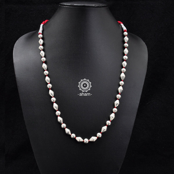Single Red Strand Dholki Neckpiece