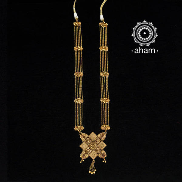 long silver gold polish neckpiece with earrings