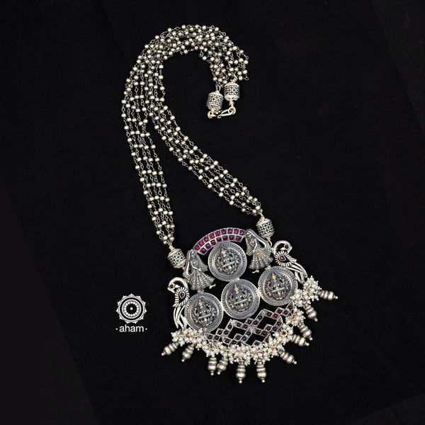 One of a Kind Lakshmi Silver Neckpiece