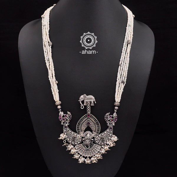 One of a Kind 92.5 Sterling Silver Neckpiece. Made by fusing together distinct pieces, to create something which is truly unique and one of a kind, specially for you.
