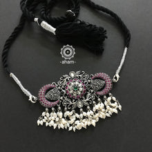 Beautiful handcrafted 92.5 sterling silver Guttapusalu style Choker