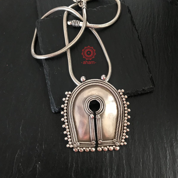 Handcrafted pendant in 92.5 sterling silver