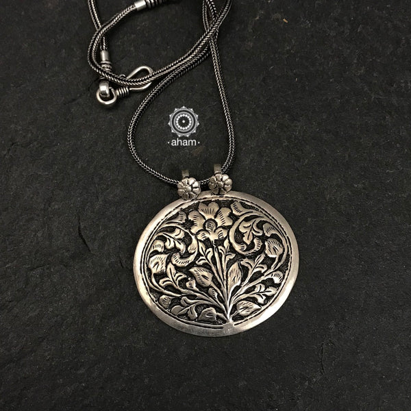 Everyday Wear Silver Chitai Pendant