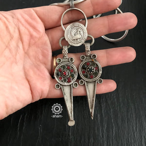 Vintage Silver Pendant  trivia: This is actually a tooth digger and a ear cleaner.  a utilitarian piece of jewellery. This form of jewellery is popular across south east asian countries.