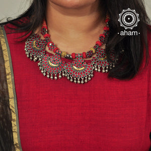 Red and Yellow Glass Neckpiece