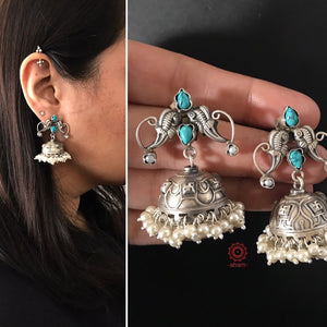 Turquoise and Pearl Mini Jhumkie