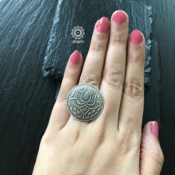 92.5 Adjustable Silver Ring