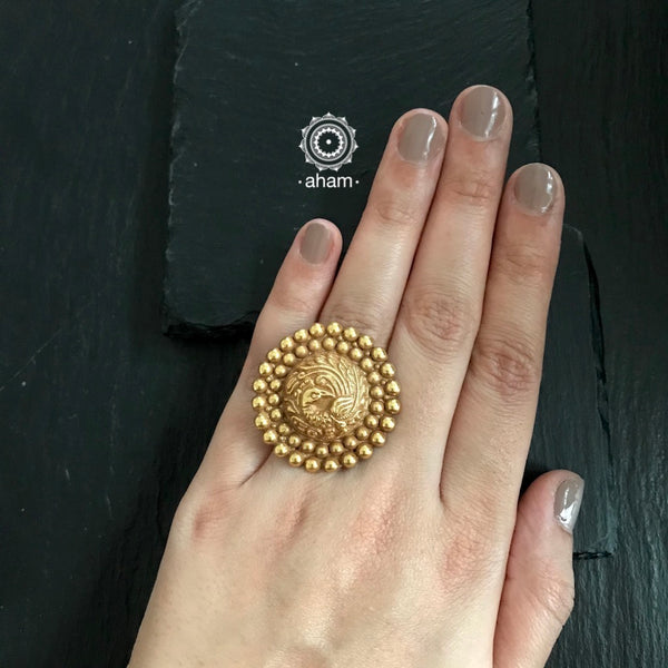 Silver Ring with Gold polish