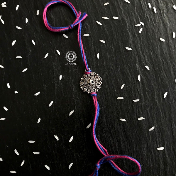 Beautiful Silver Rakhi  Make this Rakshabandhan Memorable with this handcrafted Rakhi