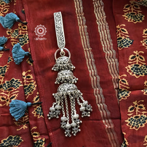 92.5 Silver Key Chain with Chitai Jhumkie Motif