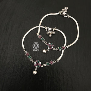 Anklets have a charm of their own and add loads of grace to your feet.  Beautiful 92.5 Silver Anklets
