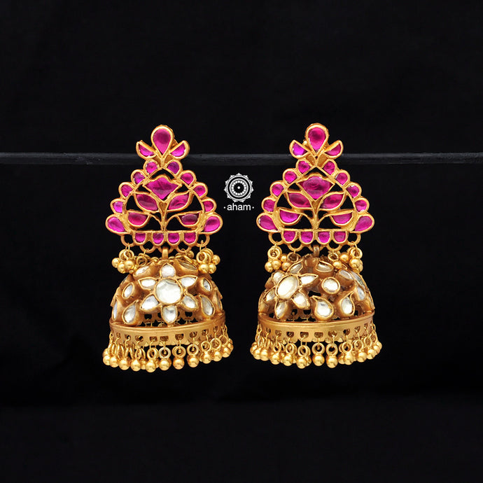 Kundan work Regal Earrings