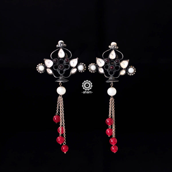 Festive Earrings with Kundan Work