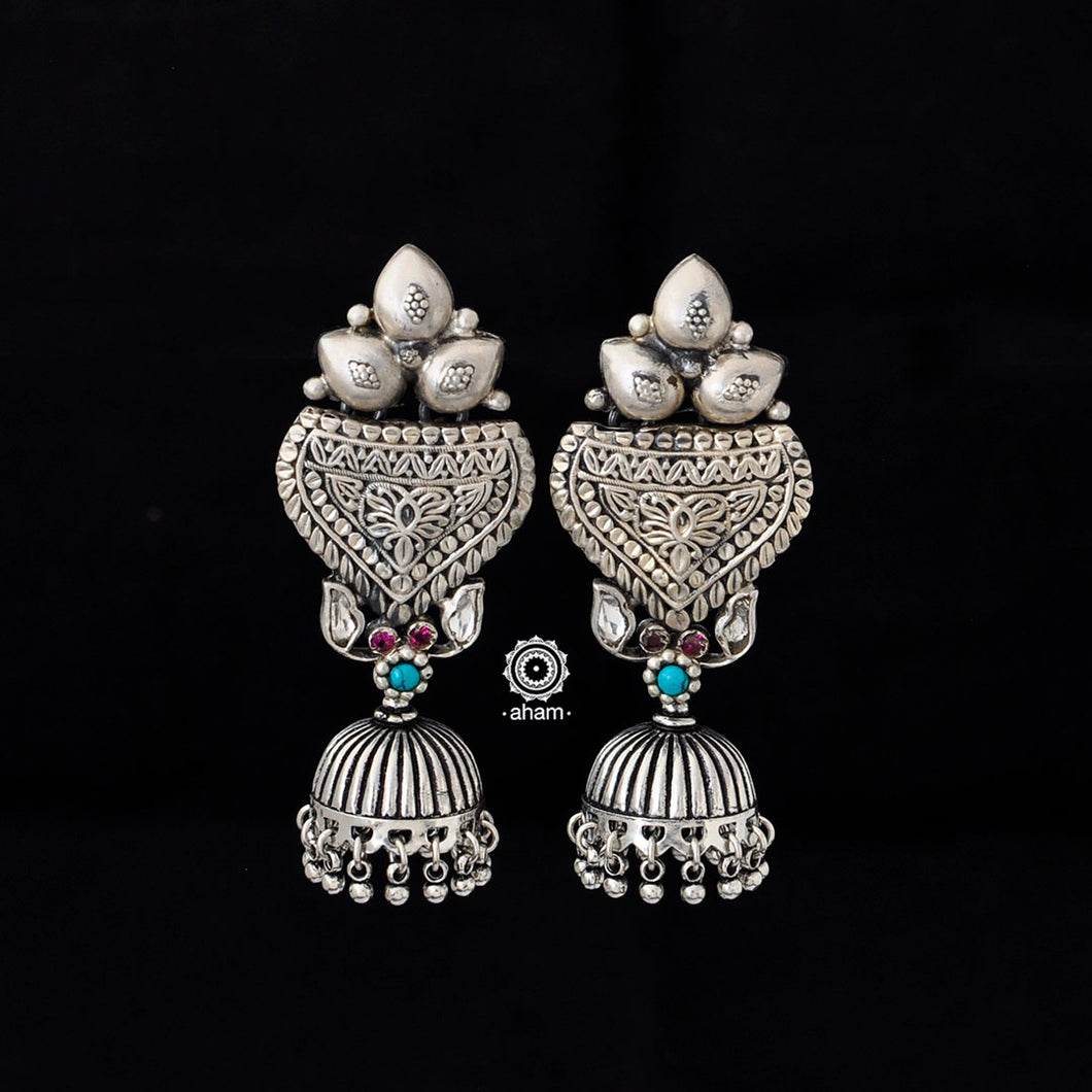 Light weight festive 92.5 sterling silver jhumkie