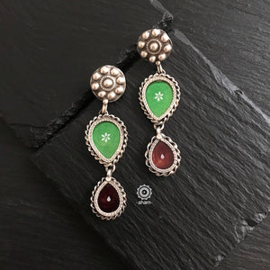 Green and Brown Rang Mahal Earrings
