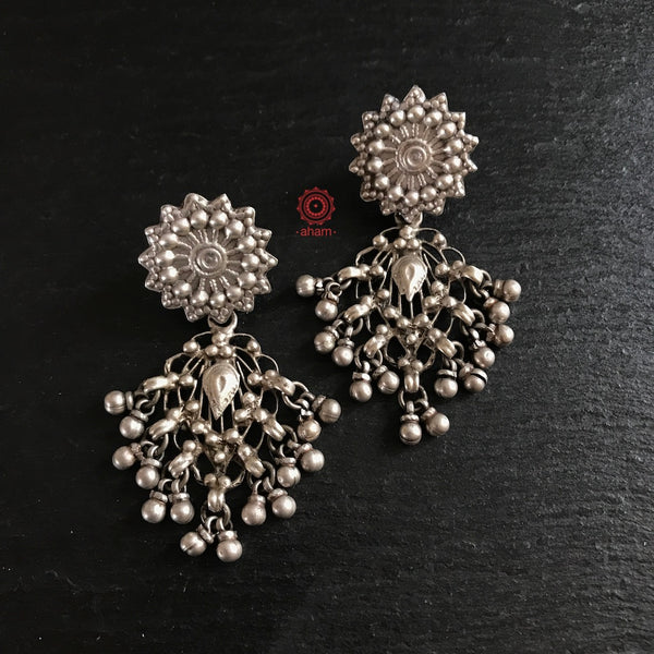 Our most popular signature Filigree Silver Earring in stud