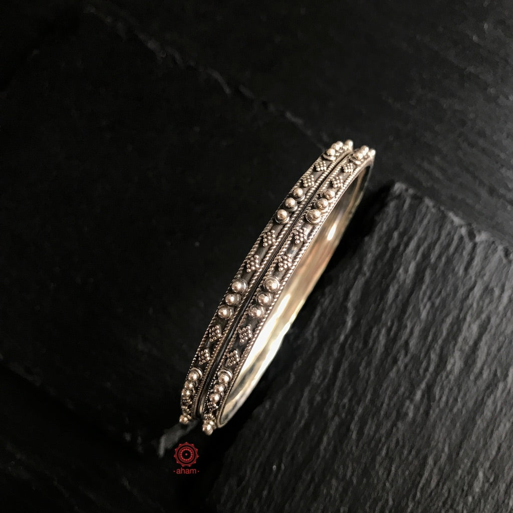 Everyday Silver Bangles (Size 2.2, 2.4, 2.6, 2.8)