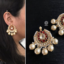 Chandrika Chandbali with Kundan and pearls