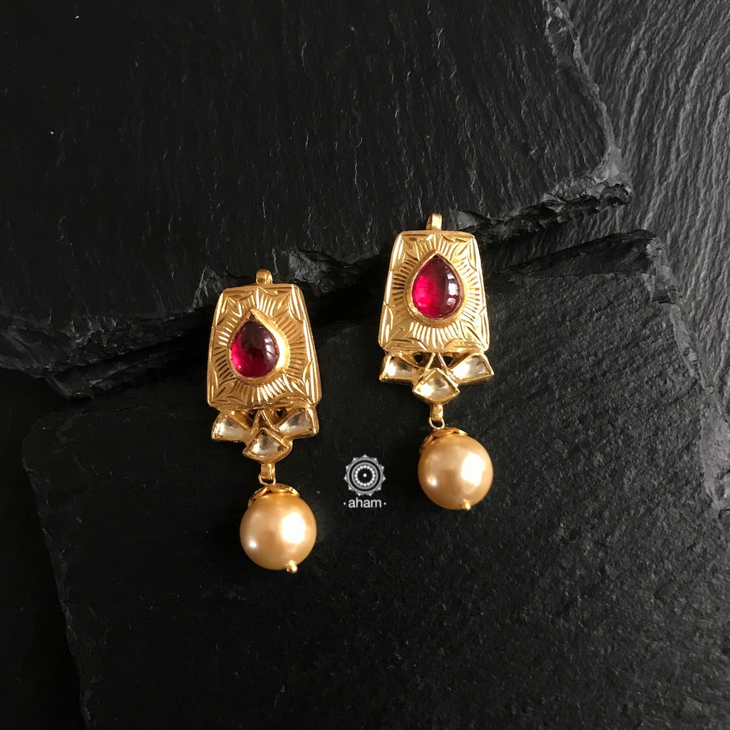 gold polish silver earring india