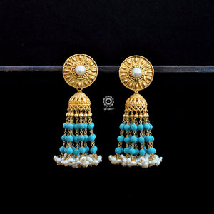 Gold, Turquoise and Pearl Jhumkie