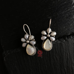 Summer Love Pearl Silver Earring