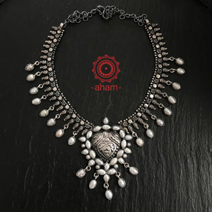 Pearl and Silver Neckpiece
